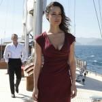 berenice marlohe pendant le film sur un voilier