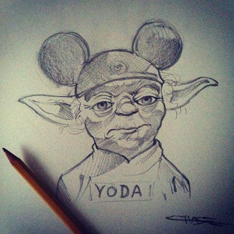 Yoda porte de jolies oreilles de Mickey