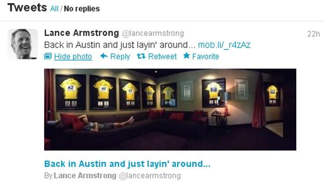 Lance Armstrong fait de la provocation sur Tweeter