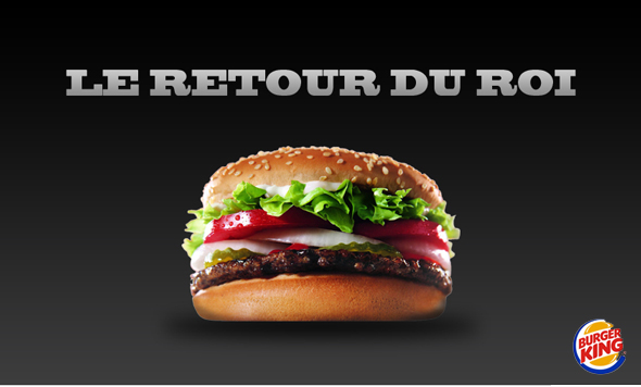 Burger King : de retour en France