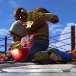 le captain falcon fait une prise de catch dans Tekken Tag Tournament 2 Wii U