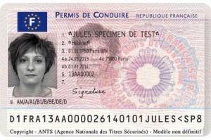 Specimen du futur permis de conduire électronique.
