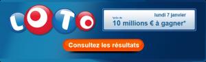 Loto : lundi 7 janvier 2013, les résultats par ici