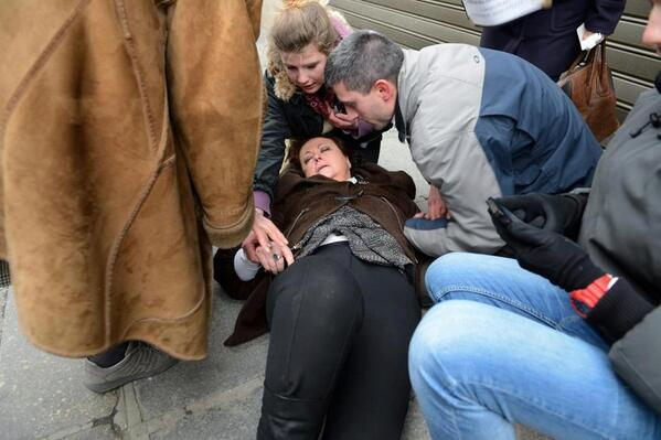 Christine Boutin touchée par des lacrymos