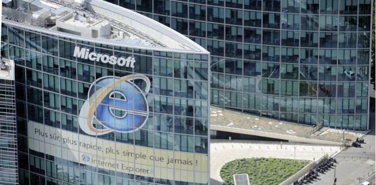 Vue aérienne des bureaux de Microsoft france