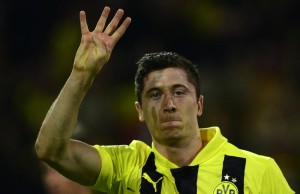 Robert Lewandowski quadruplé Borussia Dortmund