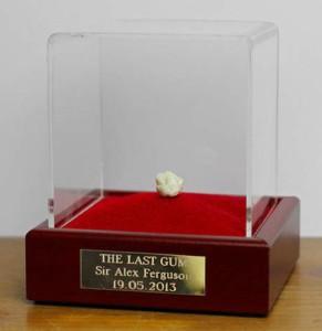 Dernier chewing-gum mâche par Sir Alex Ferguson